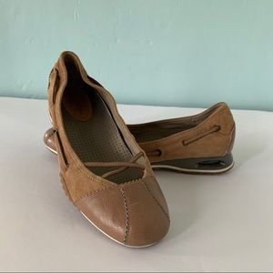 Cole Haan Nike Air Suede Leather Tan Slip On Shoes